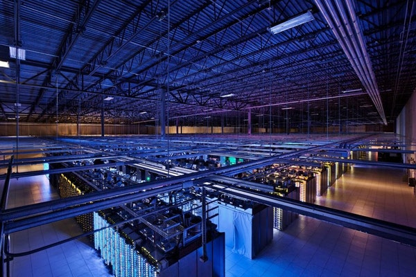 This undated photo provided by Google shows a Google data center in Hamina, Finland.