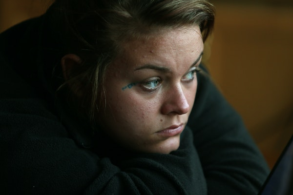 Bobbi sat motionless as she listened to a booking interview between Sgt. Grant Snyder and one of the men who was ultimately sentenced for pimping her.