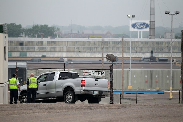 In this June 2013 file photo, crews prepared for the demolition of the Ford assembly plant site in St. Paul's Highland Park neighborhood.