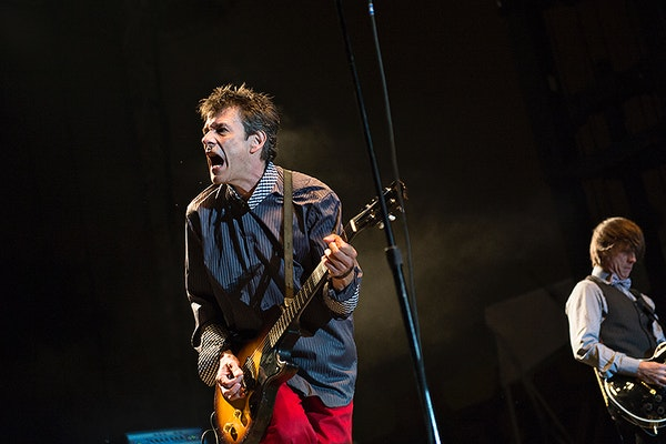 All over but the shouting: Paul Westerberg seem to have as much fun as the fans at the Replacements' second of three RiotFest gigs in Chicago on Sept.
