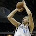 """Kevin Love is trying to master Dirk Nowitzki's one-step fallaway. """"It's something I'll try to keep implementing. Being 25 years old, I still h"""