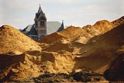 Frac sand pile in Winona.