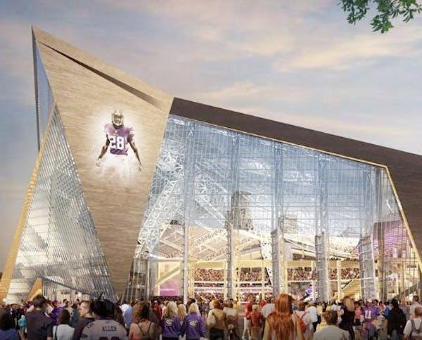 Rendering of the new Vikings stadium.