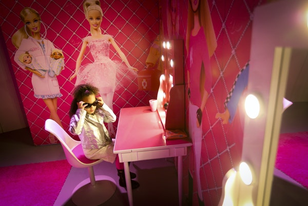 Backstage Ameya Morrow, 4, played dress-up before hitting the stage at Barbie Dreamhouse Experience, the 30,000-square-foot attraction at Mall of Amer