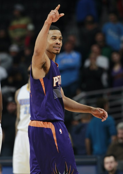 Phoenix Suns guard Gerald Green played briefly with the Wolves in 2007-08.