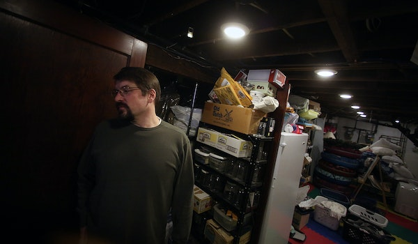 Cracks in Karl Ebert's basement floor mean that an air-pressure system won't be able to suck out any contaminants under the foundation. Ebert had