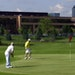 File photo: Two golfers finished up the third hole of the Fred Richards Golf Course..