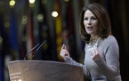 Congresswoman Michele Bachmann, R-Minn., spoke at the Conservative Political Action Conference annual meeting in National Harbor, Md., on March 8, 201