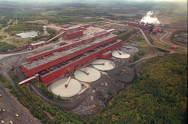 FILE - In this undated aerial file photo, the LTV Steel Mining Company which shut its doors Jan. 3, 2001, is shown near Hoyt Lakes, Minn. The PolyMet