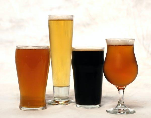 Beer illo. Left to right: Day Tripper, Stella Artois, Guinness Extra Stout and Leffe. July 15, 2013. ] JOELKOYAMA•joel koyama@startribune.com ORG XM