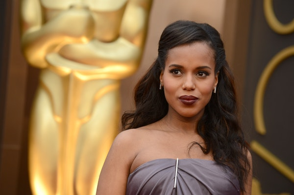 Kerry Washington arrives at the Oscars on Sunday, March 2, 2014, at the Dolby Theatre in Los Angeles.