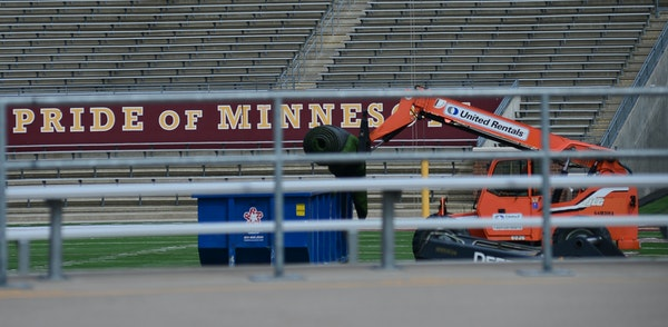 The TCF Bank Stadium turf where the Gophers play is being ripped out as part of $6.6 million in renovations for the facility so that the NFL's Minne