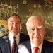 Gerry Rauenhorst, Opus Group founder, right, in 2003. With him was his son Mark.