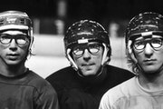 From left, Steve Carlson, Jeff Carlson and Jack Carlson during Minnesota Fighting Saints training camp in 1977.