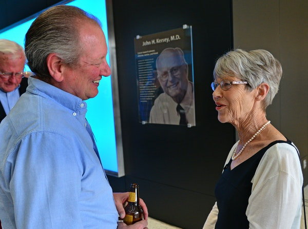 David Stahl was saved by Dr. John Kersey from malignant lymphoma with the first successful bone-marrow transplant. Stahl spoke Tuesday with Anne Kerse