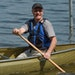 Ted Bell, a 30-year veteran of the paddling industry, showed off one of his newest models. Bell co-founded Northstar Canoes in April 2013.