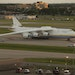 The Antonov 225, the world's largest plane in service, was parked on the tarmac at MSP Monday evening.