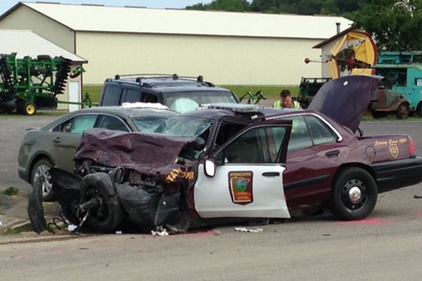 The crash in Cannon Falls happened on 65th Avenue and County Road 24 just outside of the Country Side Antique Mall.