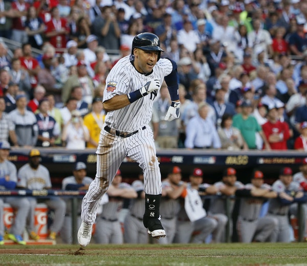 Derek Jeter got the American League off and running in his final All-Star Game with a leadoff double, which was followed by a triple and a home run.