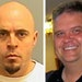 Brian Fitch, left, is being sought in the fatal shooting of Mendota Heights police officer Scott Patrick, right.