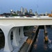 """In the six years since the official I-35W Bridge opening in 2008, left, the bridge has deteriorated from """"excellent"""" to """"very good."""""""
