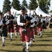 Bands competed in the bagpipe competition at a previous year's Scottish Fair and Highland Games.