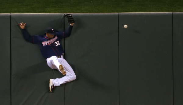 Aaron Hicks was the Twins' first option in center field this year, but he has looked overmatched at the plate. He is batting .194 through 129 career m