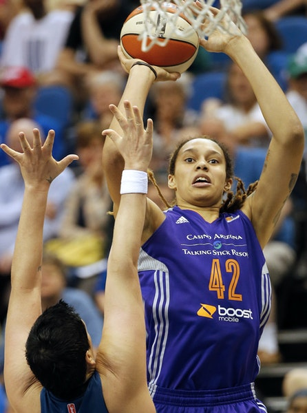 Brittney Griner is the best defender in the league, and she is a scorer, too (15.6 PPG).
