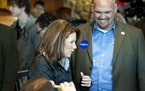 Rep. Michele Bachmann and Kent Sorenson, who later switch his support to Ron Paul.