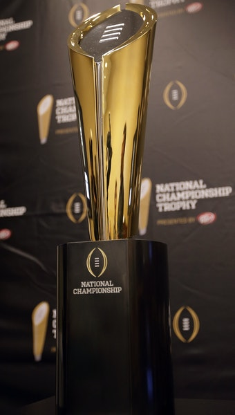 The College Football Playoff is shiny and new this season and comes with a trophy to match.