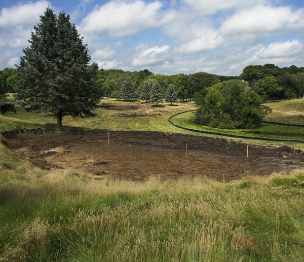 Red Oak Golf Course in Mound is one of the places where fairways and greens are giving way to housing developments. An astounding 147 new courses were