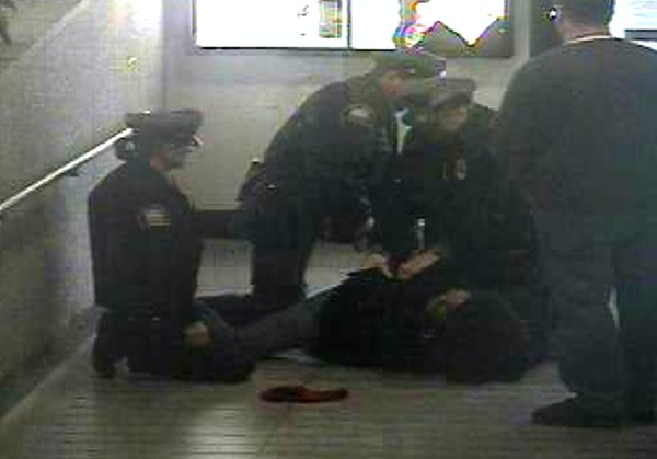 St. Paul police released surveillance video Wednesday showing the officers' encounter in January that led to the man being shot with a Taser in what