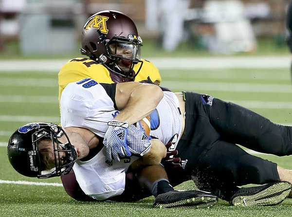 Gophers defensive back Eric Murray showed off his improvement to Eastern Illinois' Adam Drake in the season opener.