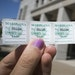 Minnesota tax stamps for 1 gram marijuana sales.