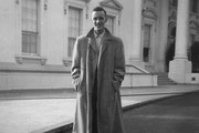 The author's father, John Banks, at the White House in 1954.