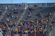 University of Minnesota students arrive late and leave the football game against Northwestern University before the fourth quarter Saturday, October 1