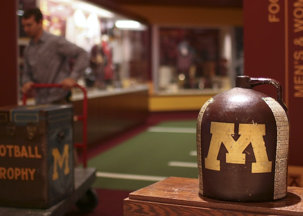 The Little Brown Jug is on a pedestal at TCF Bank Stadium. But the jug will ring hollow if the Gophers can't build on it.