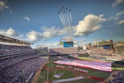 All the stops were pulled out for Major League Baseball's July 15 All-Star Game at Target Field, including a U.S. Air Force Thunderbirds flyover.
