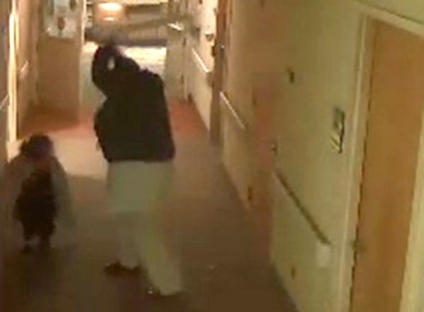 MAPLEWOOD ATTACK: Still photos taken from a surveillance video show a patient at St. John's Hospital beating a nurse with a metal rod Sunday.