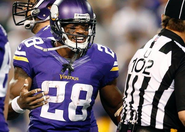 Vikings running back Adrian Peterson.