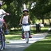 In 2007, Kiki Hankinson, right, rode bikes with her neighbor Maggie Sexton up and down the sidewalk in front of their homes on Maple Road in Edina. Be