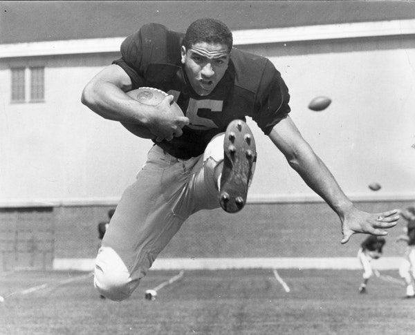 Sandy Stephens, University of Minnesota Gophers football star - December 1959 file photo.