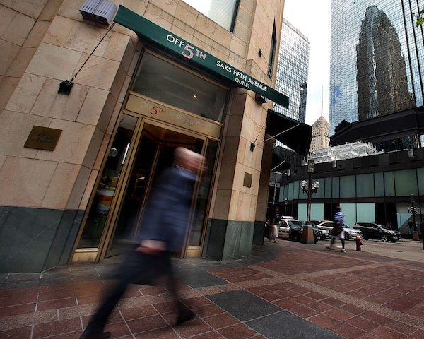 Saks Off-Fifth on Nicollet Mall closed this month to make way for a Walgreens. It will reopen across the street in City Center in 2016.