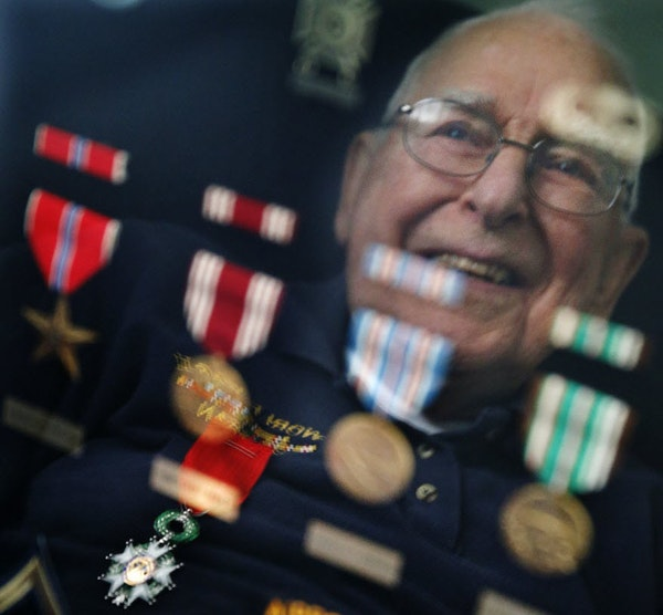 At his home in Bloomington, Jim Carroll received the French Foreign Legion of Honor award, the highest award bestowed on a foreigner by France.