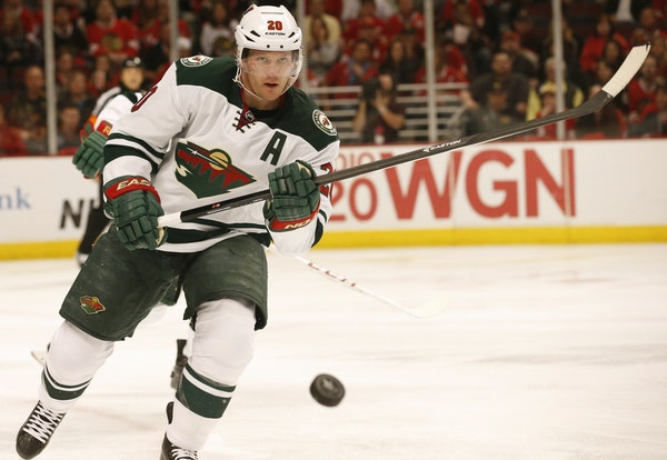 """Wild defenseman Ryan Suter, who has battled through an upper-body injury since Game 3, is embracing the pressure of the playoffs. """"I'm enjoying it"""