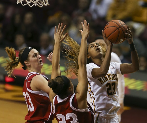 Gophers forward Shae Kelley continued her strong play with 19 points and 13 rebounds.