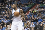 Shabazz Muhammad and the Wolves played before plenty of empty seats during their home game against the Phoenix Suns on Jan. 7.