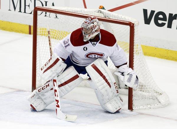Canadiens goalie Carey Price.