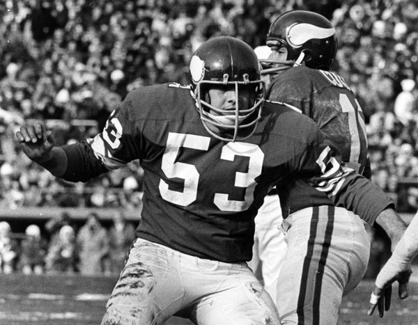 Mick Tingelhoff, an undrafted free agent from Nebraska, became a fixture on the Vikings' offensive line for 17 seasons.