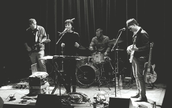 Warey took shape on stage over a series of gigs at Icehouse, featuring former Roma di Luna bandmates (from left) Ben Durrant, Channy Leaneagh, Ryan Lo